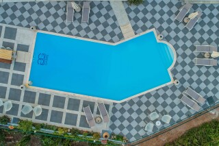 gallery garbis villas pool aerial