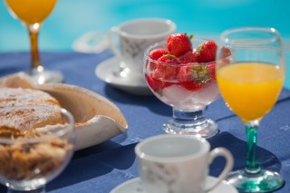 pool bar gabris villas greek breakfast