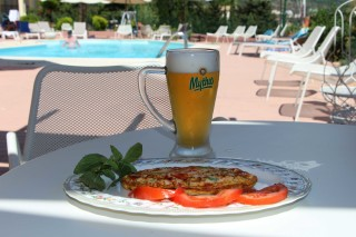 pool bar garbis villas pizza beer