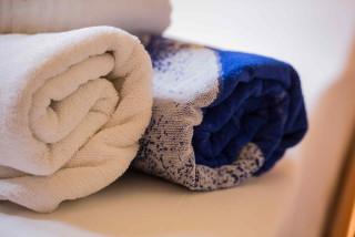 two bedroom apartment garbis villas towels